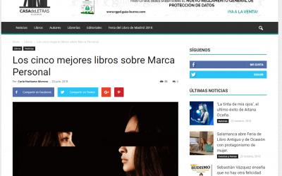 Casa de Letras indica que el GuíaBurros: Marca personal, de María José Bosch, es uno de los mejores sobre esta temática