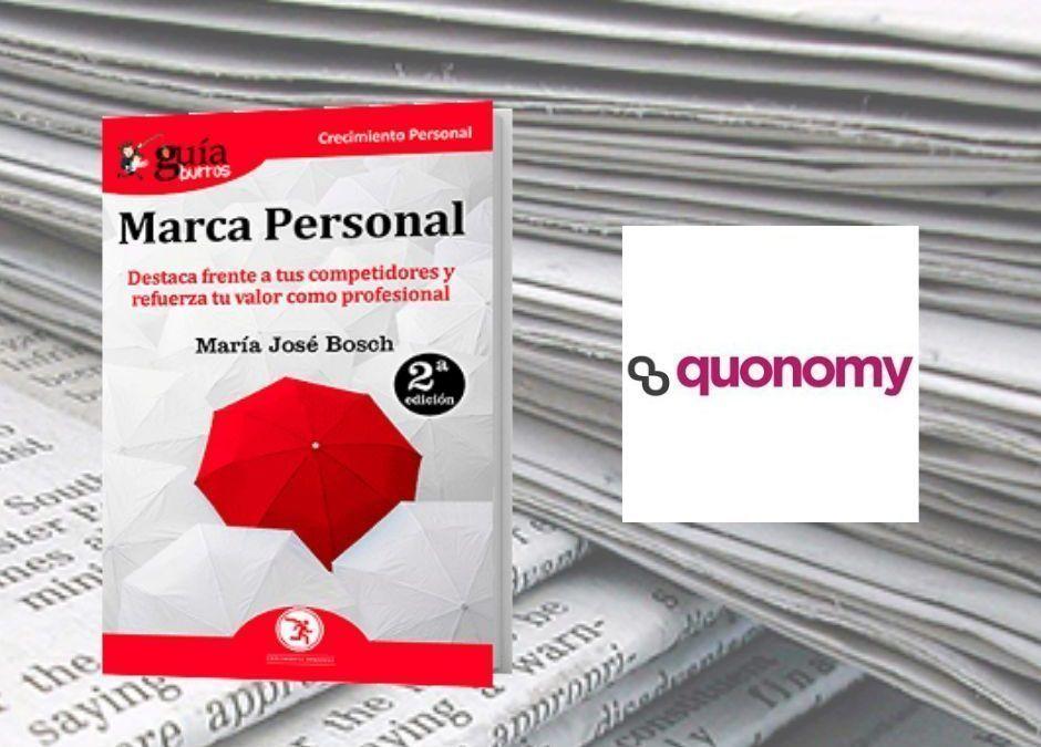 El «GuíaBurros: Marca Personal», de María José Bosch, en la revista digital Quonomy.com